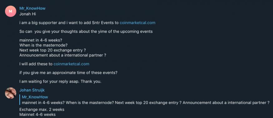 SNTR (サイレントノータリー) 仮想通貨イベント